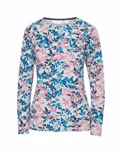 Trespass Womens/ladies Margery Leaf Print Long-sleeved Top