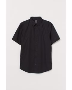 Overhemd - Slim Fit Zwart