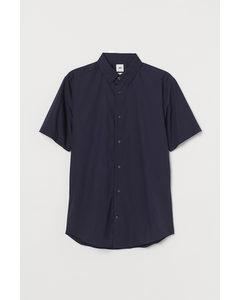 Overhemd - Slim Fit Donkerblauw