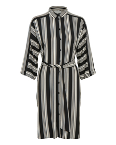 Baez Dress Stripe French Nougat