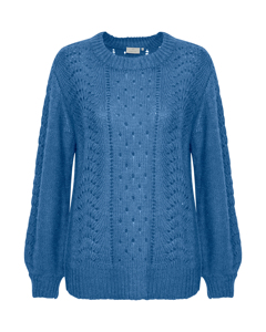 Wenche O-neck Pullover Federal Blue