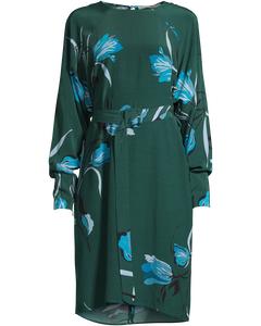 Sille Dress Ao18 Flower Green