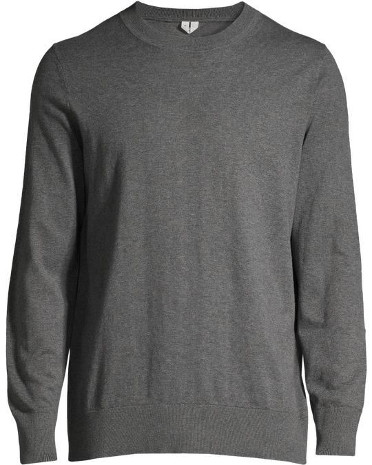 Arket Cotton Cashmere Jumper Dark Grey Melange