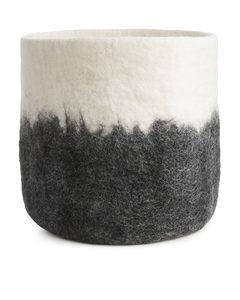 Aveva Design Wool Basket 30 Cm Black/white