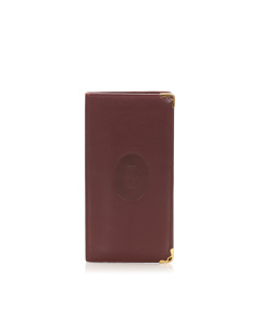 Cartier Must De Cartier Leather Wallet Red