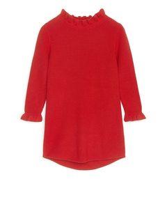 Strickkleid aus Baumwolle Rot