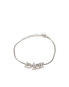 Dior Logo Chain Bracelet Silver