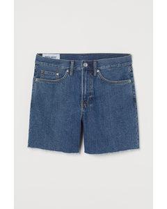 Regular Jeansshorts Denimblå