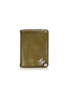 Chanel Leather Card Case Green
