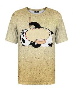 Mr. Gugu & Miss Go Hungry Panda T-shirt Light Yellow