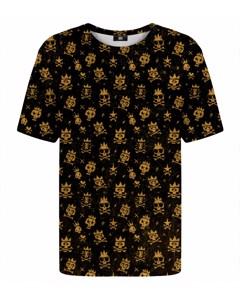 Mr. Gugu & Miss Go Rocking Skulls T-shirt Rusty Gold