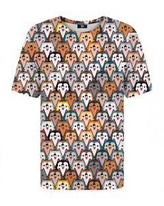 Mr. Gugu & Miss Go Colorful Wolf T-shirt Beige