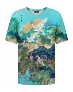 Mr. Gugu & Miss Go Asian Cranes T-shirt Teal