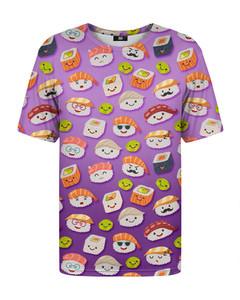 Mr. Gugu & Miss Go Happy Sushi T-shirt Pink