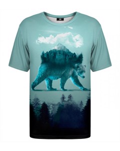 Mr. Gugu & Miss Go Bear In Mind T-shirt Ice Teal