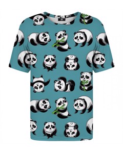 Mr. Gugu & Miss Go Panda Life T-shirt Marine