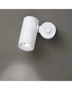 Haul 40 Matt Aluminium-Zylinder Weiß Decken- und Wandleuchte mit Baldachin - Sf W -