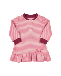 Dress Ls W. Yd Stripes-brandied Apricot