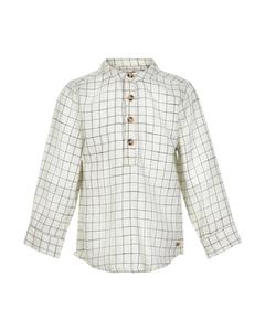 Shirt Ls Check-white