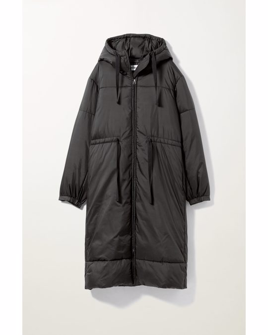 Weekday Ally Long Puffer Jacket Black