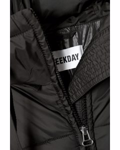 Ally Long Puffer Jacket Black