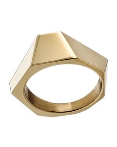 Origami Ring Brass