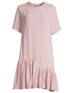 Asymmetric Ruffle Detailed Dress Dusty Pink