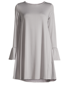 Jersey Long Sleeve Dress Blue Grey
