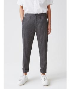 Law Trouser Dk Grey Stripe