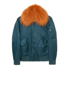 Flight Fur Jacket Petrol