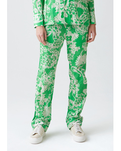 Bon Trouser Green Paisly