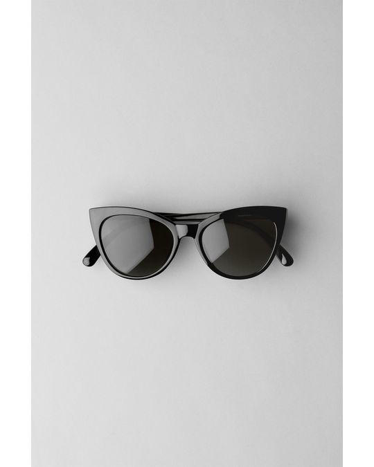 Weekday Destination Cateye Sunglasses Black
