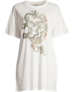 Zoe Tee Dress-  Vintage White