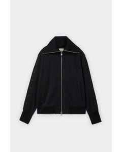 Snap Track Jacket Black