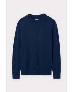 Slim Crewneck Sweater Blue