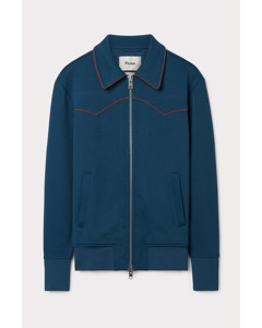 Western Track Jacket Blue