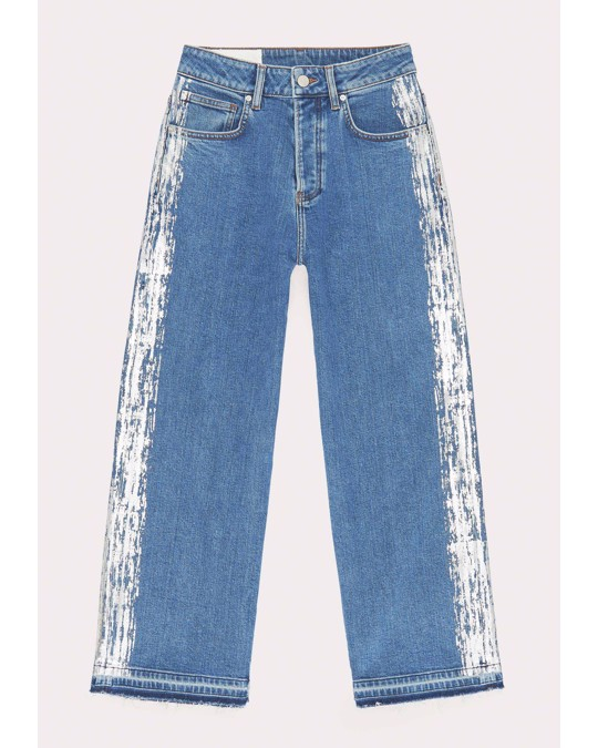 Nyden Mom Flare Jeans Blue