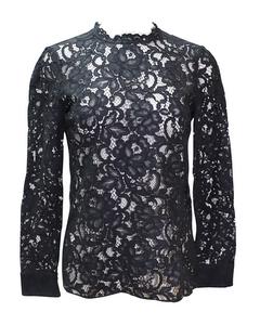 Black Long Sleeve Lace Blouse