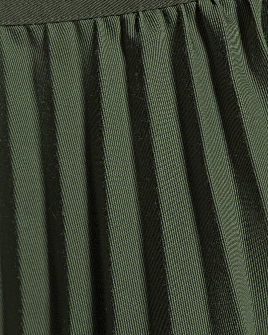 Nyden Pleated Twill Utility Skirt Green