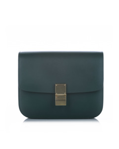 Celine Classic Box Leather Crossbody Bag Blue