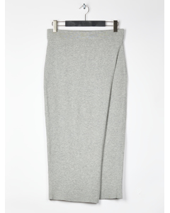 Kit Knit Wrap Skirt- Light Grey Melange