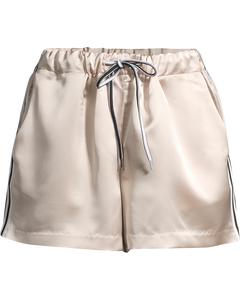 Pearl Stripe Shorts-  Champange