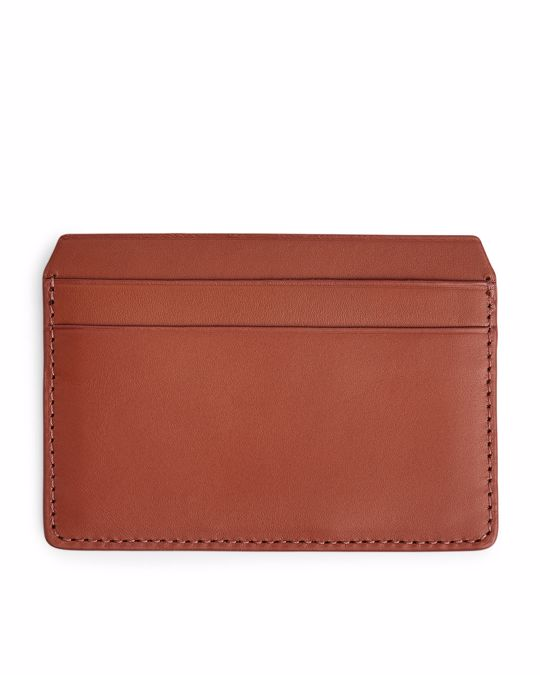 Arket Leather Card Holder Reddish Brown
