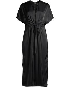 Relaxed Drawstring Dress Dark Blue