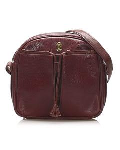 Cartier Must De Cartier Leather Crossbody Bag Red