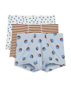 Jersey Trunks Beige/blue/red