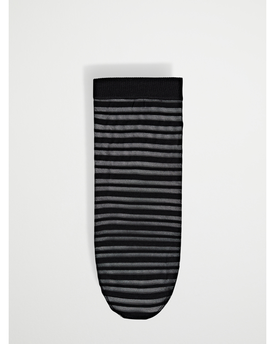 AFOUND OBJECTS 1-pack Sock 40.den. Stripe Black
