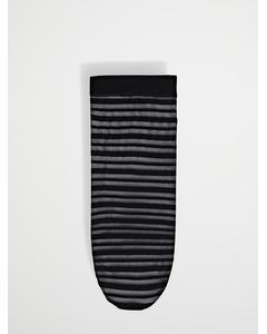 1-pack Sock 40.den. Stripe Black