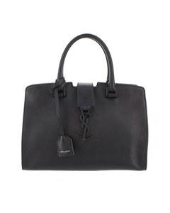 Ysl Monogram Cabas Chyc Leather Handbag Black