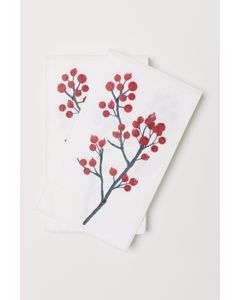 Holly Xmas Paper Napkin Nosize Red